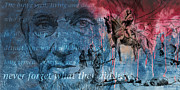 Statue Portrait Mixed Media Prints - Battle Of Gettysburg Tribute Day Three Print by Joe Winkler