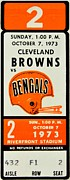 Cleveland Browns Prints - Battle of Ohio Print by Benjamin Yeager