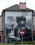 Bloody Battle Posters - Battle of the Bogside Mural III Poster by Nina Ficur Feenan
