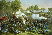 Oak Creek Prints - Battle Of Wilson Creek Print by Kurz and Allison