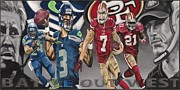 49ers Painting Prints - BATTLE out WEST Print by Dustin Handy