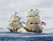 Tall Ships Metal Prints - Battle Sail Metal Print by James Williamson
