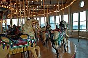 Barbara Mcdevitt Framed Prints - Battle Ship Cove Carousel Framed Print by Barbara McDevitt