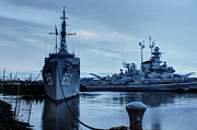 Naval History Framed Prints - Battleship Cove Framed Print by Andrew Pacheco
