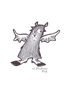 Spats Prints - Batty Print by Cesar Pacheco