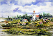 Village Paintings - Bavarian Village by Sam Sidders