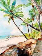 Coconut Trees Paintings - Bavaro Beach by Carlin Blahnik