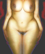 Nude Digital Art - Bawdy Beautiful in Spiritual Essence by James Barnes