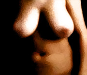 Nudes Digital Art Prints - Bawdy in Low Light Print by James Barnes