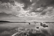 Ocean Black And White Prints Prints - Bay Area Boats Print by Jon Glaser