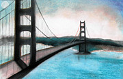 Bay Bridge Mixed Media Metal Prints - Bay Bridge Metal Print by Christine Maeda