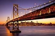 Oakland Photo Originals - Bay Bridge over San Francisco by Brian Jannsen