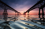Bay Bridge Reflections Print by Jennifer Casey