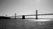 Monochrome Art - Bay Bridge by Rona Black
