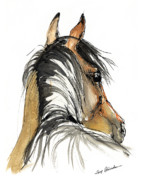 Bay Horse Drawings - Bay Horse by Angel  Tarantella