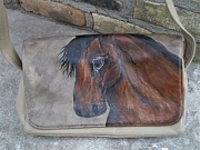 Portraits Tapestries - Textiles Originals - Bay Horse Purse by Heather Grieb
