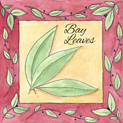 Kitchen Decor Framed Prints - Bay Leaves Framed Print by Christy Beckwith