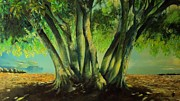 Shade Paintings - Bay Leaves Tree by Alessandra Andrisani