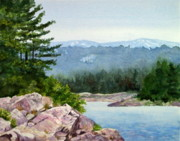 Falls Paintings - Bay of Islands Mountain View by Kathy Dolan