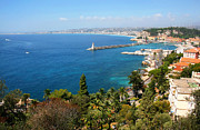 Saint-tropez Framed Prints - Bay of Nice at Cote dAzur Framed Print by JR Photography