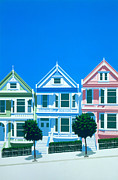 Blue House Framed Prints - Bay View Framed Print by Brian James