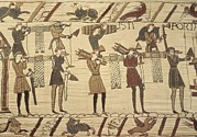 Tapestries Textiles Prints - Bayeux Tapestry. 1066-1077. Ttransport Print by Everett