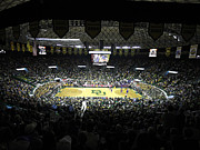 Basketball Sports Prints - Baylor Bears Sellout Ferrell Center Print by Replay Photos