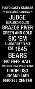 Mascot Metal Prints - Baylor College Town Wall Art Metal Print by Replay Photos