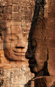 Southeast Asian Prints - Bayon Faces 02 Print by Rick Piper Photography