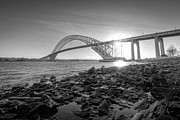 Nj Photo Originals - Bayonne Bridge Black and white by Michael Ver Sprill