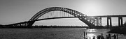 Nj Photo Originals - Bayonne Bridge Panorama BW by Michael Ver Sprill