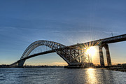Versprill Framed Prints - Bayonne Bridge Sunburst Framed Print by Michael Ver Sprill