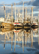 Reflections Of Sky In Water Prints - Bayou LaBatre Shrimp Boat Reflections 21 Print by Jay Blackburn