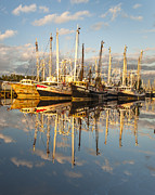 Reflections Of Sky In Water Prints - Bayou LaBatre Shrimp Boat Reflections 30 Print by Jay Blackburn