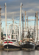 Reflections Of Sky In Water Prints - Bayou LaBatre Shrimp Boats Print by Jay Blackburn