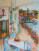 Bistro Paintings - Bayside Bistro by Elaine Duras