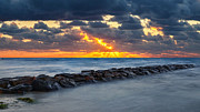 Light Rays Photo Prints - Bayside Sunset Print by Bill  Wakeley