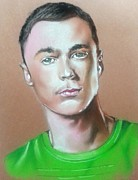Actor Pastels Posters - Bazinga Poster by Bobby Boyer