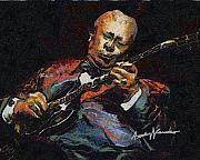 Anthony Caruso Framed Prints - BB King Framed Print by Anthony Caruso