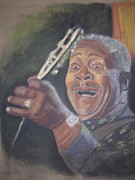 Music Pastels Originals - B.B. King by JackieO Kelley