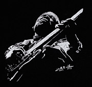 King Pastels Originals - B.B. King by Kenneth  Williams