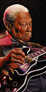 Blues Guitar Paintings - BB King by Marlon Huynh