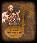 Tennessee Landmark Posters - BB King Note Poster by Donna Van Vlack