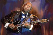 B.b.king Mixed Media Framed Prints - B.B. King Framed Print by Robert Wheater