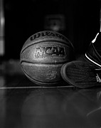Nike Metal Prints - Bball Metal Print by Molly Picklesimer