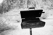 Barbecue Photos - Bbq Stand At The Campsite Area Valley Of Fire State Park Nevada Usa by Joe Fox