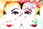 Bchichester Digiart Designs Two Women Print by Barbara Chichester