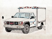 Bcpd Cruising Patrol Print by Calvert Koerber