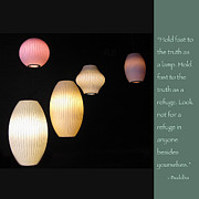 Night Lamp Prints - Be a Lamp Unto Yourself Print by Heidi Hermes