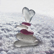 Valentine Glass Art - Be Careful With My Heart by Barbara McMahon